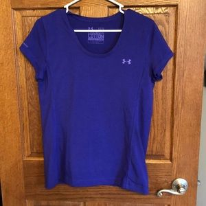 Under Armour Purple Charged Cotton Tee